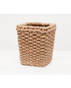 Pigeon & Poodle Destin Woven Seagrass Square Wastebasket with Optional Tissue Box