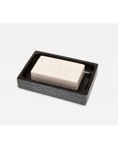 Pigeon & Poodle Manchester Faux Shagreen Soap Dish in Cool Gray