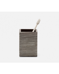 Pigeon & Poodle Kona Tooth Brush Holder in Dark Brown Rattan