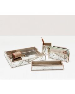 Pigeon & Poodle Positano Mirrored Desk Accessory Set