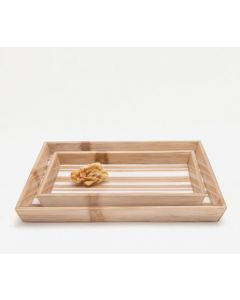 Pigeon & Poodle Ashford Bamboo and Resin Bathroom Vanity Tray Set