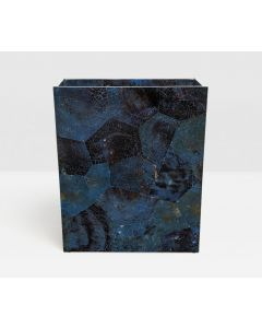 Pigeon & Poodle Santorini Rectangular Wastebasket in Dark Blue Pen Shell with Optional Tissue Box