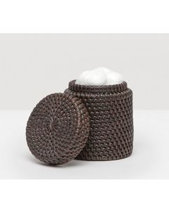 Pigeon & Poodle Dalton Woven Rattan Bathroom Canister in Coffee