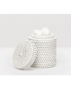 Pigeon & Poodle Dalton Woven Rattan Bathroom Canister in White