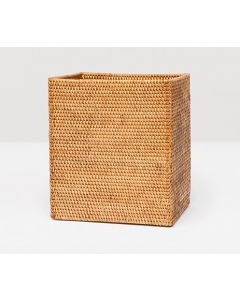 Pigeon & Poodle Dalton Woven Rattan Rectangular Wastebasket in Brown with Optional Tissue Box - ON BACKORDER UNTIL JANUARY 2020