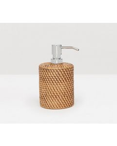 Pigeon & Poodle Dalton Woven Rattan Soap Pump in Brown