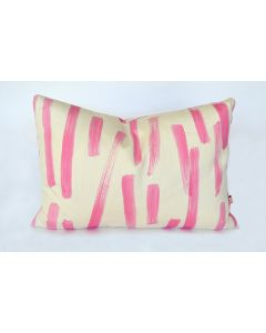 Pink Abstract Brushstroke Lumbar Pillow