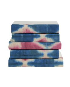 Pink & Blue Tye-Dye 5 Volume Decorative Book Set