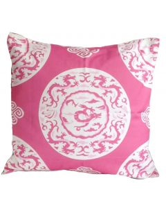 Pink Dragon Square Pillow