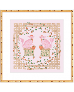 Pink Foo Dog Art Print