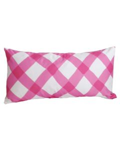 Pink Gingham Lumbar Pillow