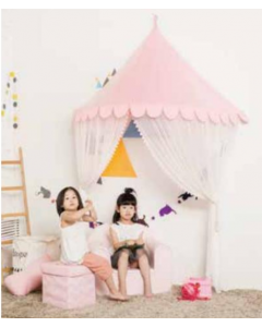 Pink Scalloped Hanging Canopy For Girls