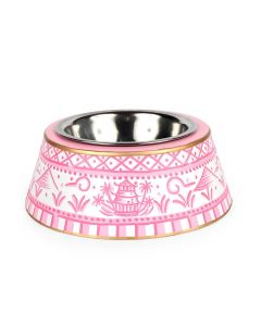 Pink Pagoda Dog Bowl - Available in Two Sizes - LOW STOCK