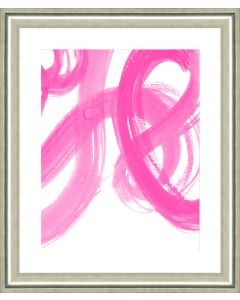 Pink Stroke Abstract I Framed Wall Art-Available in a Variety of Sizes
