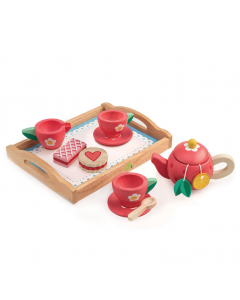 Pretend Play Tea Party Tray Set Toy for Children