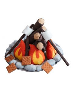 Plush Campfire with Smores Toy for Kids