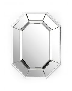 Polished Nickel Oval Wall Mirror - OUT OF STOCK