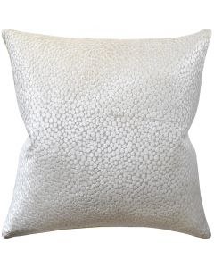 Polka Dot Plush Velvet Natural Decorative Square Throw Pillow - Available in Two Sizes