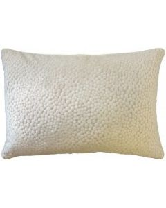 Polka Dot Plush Natural Decorative Rectangular Feather Down Throw Pillow
