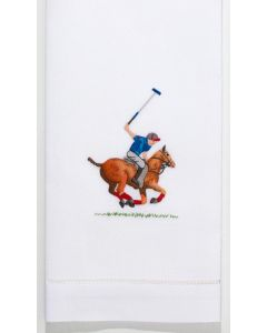 Set of 2 Polo Player Cotton Hand Towels