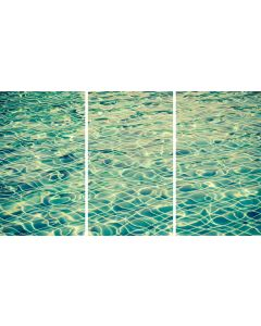 Pool Reflections Triptych Acrylic Wall Art