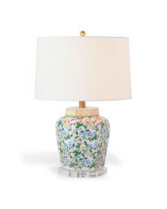Madcap Cottage Crewel Summer Floral Table Lamp