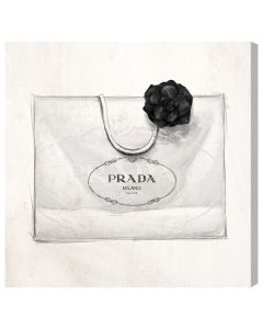 Prada Shopping Bag Canvas Print Fashion Wall Art - Variety of Sizes Available