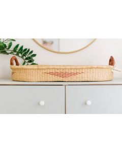 Prism Patterned Natural Grass Changing Basket  - Available in Two Colors