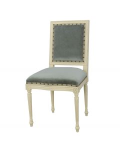 Prytania French Side Chair with Velvet Upholstery