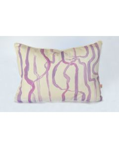 Purple Abstract Watermark Painting Lumbar Pillow