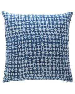 Pytho Block Print Cotton Decorative Pillow in Indigo Blue