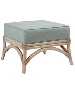 David Francis Rattan Frame Island Ottoman - Variety of Finishes Available
