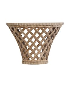 Rattan Wall Bracket Shelf with Trellis Lattice Front, Available in a Variety of Colors - PREORDER JANUARY 2022