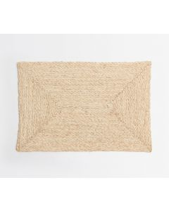 Rectangular Raffia Placemats in Bleached, Set of 4
