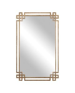 Rectangular Mirror with Ornate Hand Forged Frame
