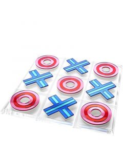 Red and Blue Mirror Tic Tac Toe Game Board