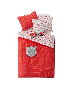 Red Firehouse Twin Bedding Set for Kids