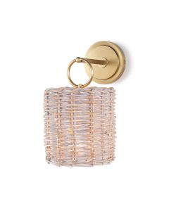 Coastal Woven Rattan Wall Sconce - Available in 3 Finishes