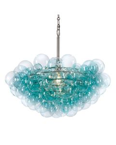 Modern Bubbles Cluster Chandelier in Aqua