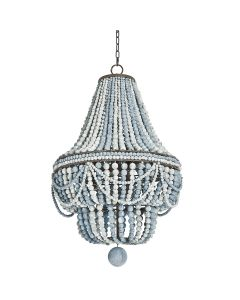 Beaded Chandelier in Weathered Blue
