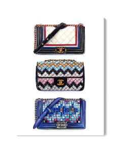 Resort Collection Chanel Inspired Fashion Wall Art - Variety of Sizes Available