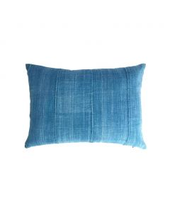 Restored Vintage Denim Blue Lumbar Pillow