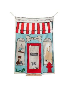 Reversible Doorway Pretend Play Pet Store/Café For Kids