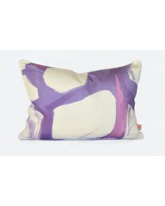Purple Abstract Watermark Brushstroke Lumbar Pillow