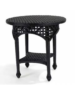 Riviera Villa Wicker Side Table in Variety Colors