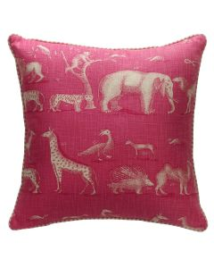 Kravet Andrew Martin Animal Safari Pink Kingdom Pillow
