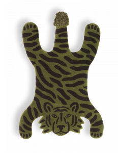 Safari Tiger Tufted Decorative Rug for Kids