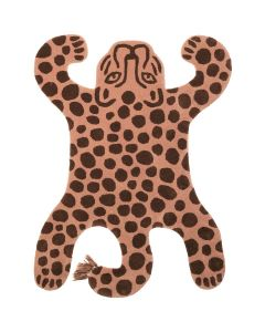 Safari Leopard Tufted Decorative Rug for Kids