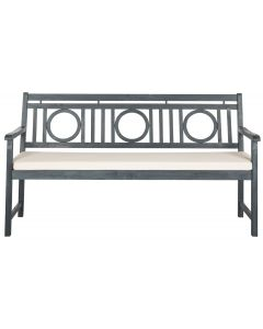Montville 3 Seat Circle Bench in Ash Grey Finish