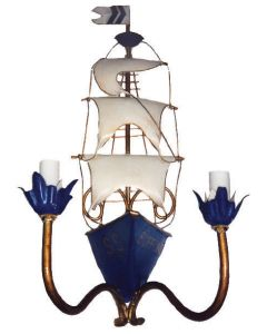 Sailboat Wall Sconce for Kids